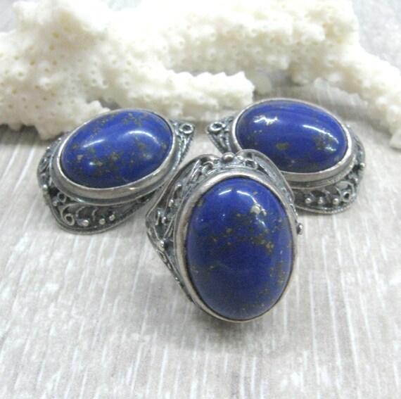 Blue Gemstone Pendant Sterling Silver Charms Cobalt Blue Lapis Lazuli Pendant Navy Blue Lapis Lazuli Jewelry Natural Stone Jewelry