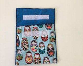 Reusable Eco Nesting Doll Print Snack Bag
