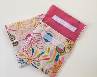 Reusable Eco Floral Print Snack Bag