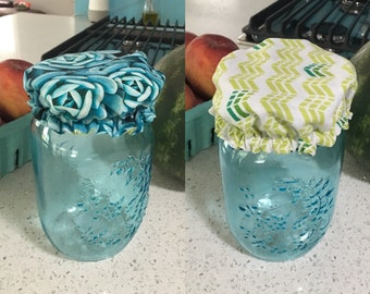 Reversible reusable jar cover-many prints available!