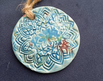 Ceramic Mandala Circle Hanging Decoration