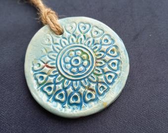 Ceramic Mandala Hanging Decoration