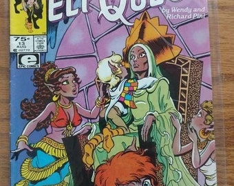 vintage,ELF QUEST,MARVEL,aug 13,vol 2, no 13,1986 , used but nice