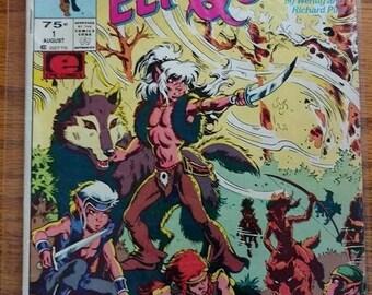vintage,ELF QUEST,marvel,aug. 1ST,vol.2,#1,unused,1985,NICE,bar code