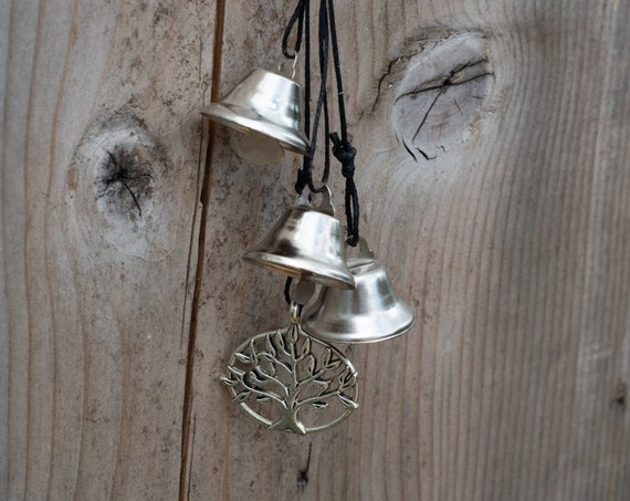 Witches bells / Home spiritual protection / Clear Quartz and Silver Tree