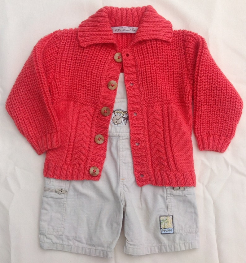 b6b79bab9030 Boys Cardigan Sweater Boys Orange Sweater Cable Knit