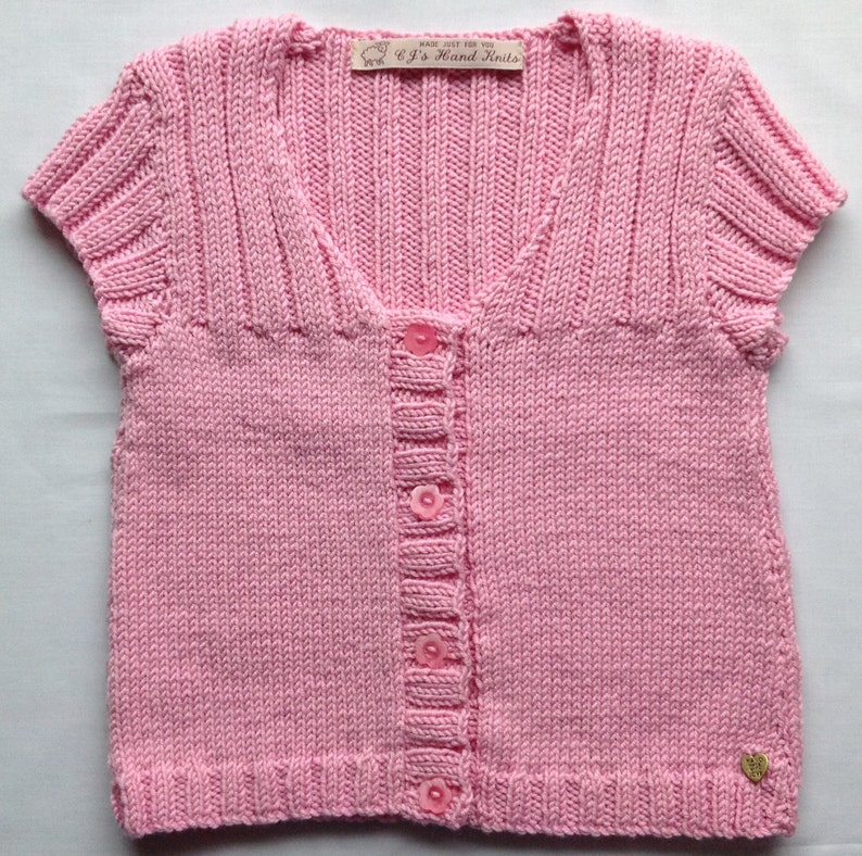 f781a5fe9 Toddler Girl Pink Sweater Hand Knitted Cardigan Girl Knitwear
