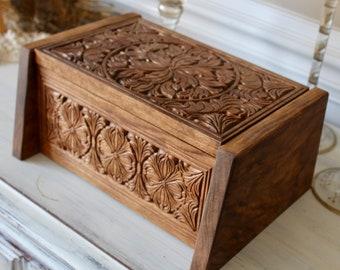 Wooden Urn Etsy
