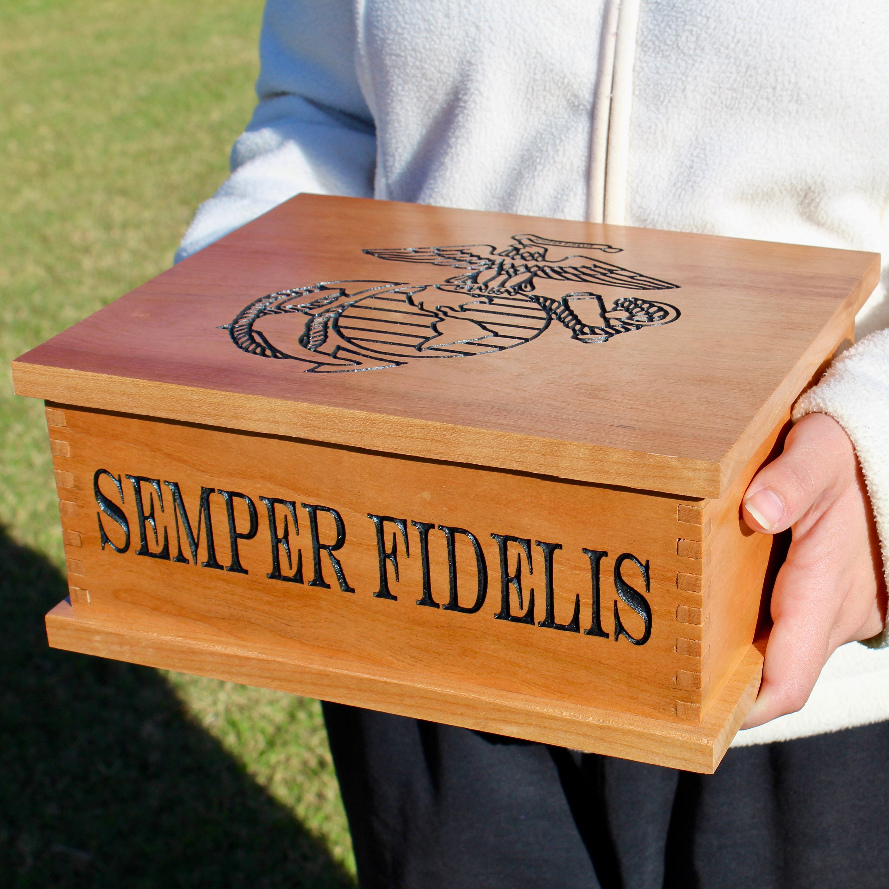 Personalised Wooden Jewellery Box Engraved Name Any Text Gift Keepsake Accessory