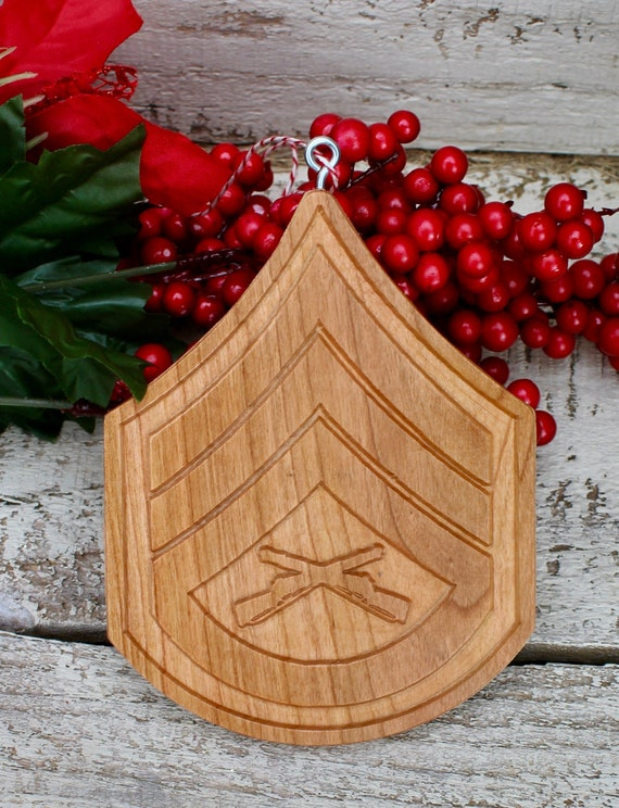 Marine Corps Ornament Sergeant Gifts Sergeant Stripes USMC   Etsy