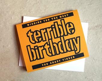 Terrible Towel Birthday Card / Yinz / Blank Inside / Pittsburgh / Steelers