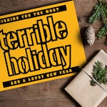 Terrible Towel Holiday Card / Yinz / Blank Inside / Pittsburgh / Steelers
