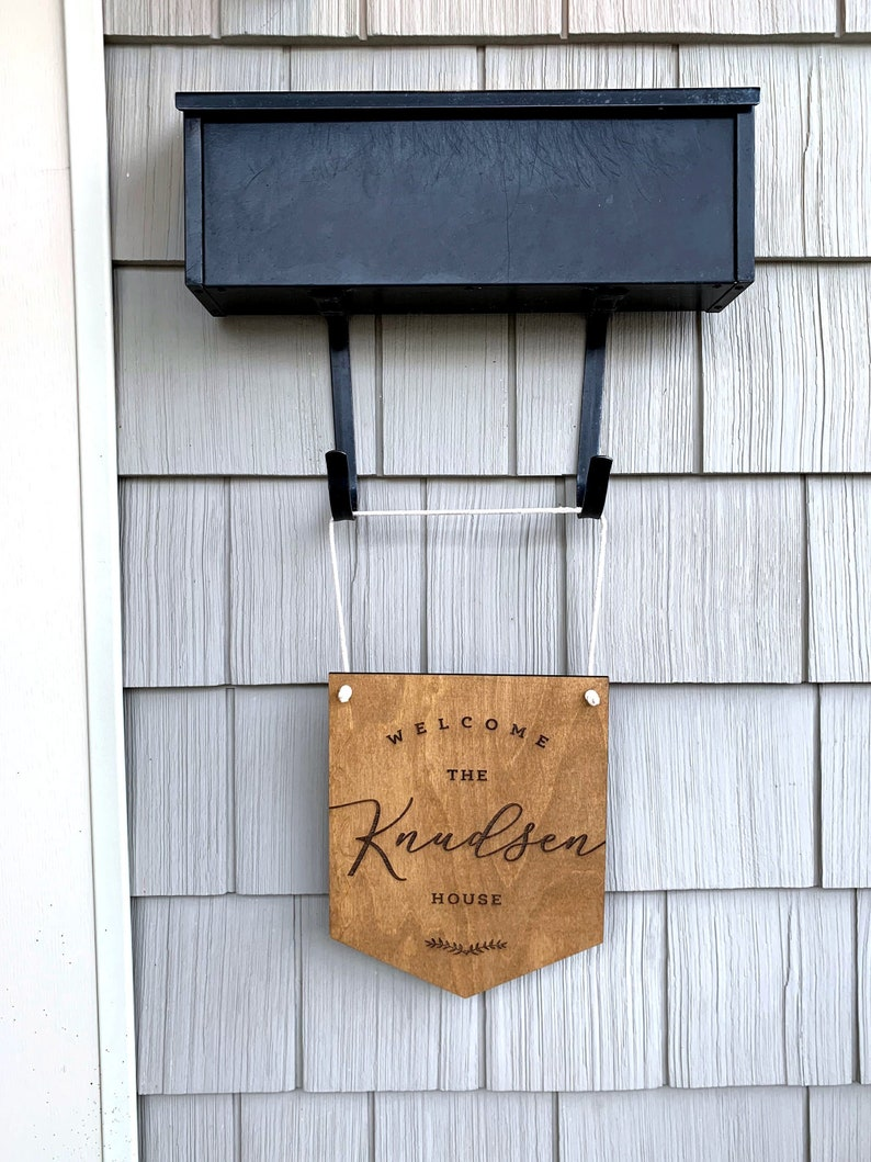 Last Name Sign  Personalized Custom  Front Door Sign  Home Decor  Engraved  Wood  Rustic  Farmhouse  Realtor Gift  Housewarming