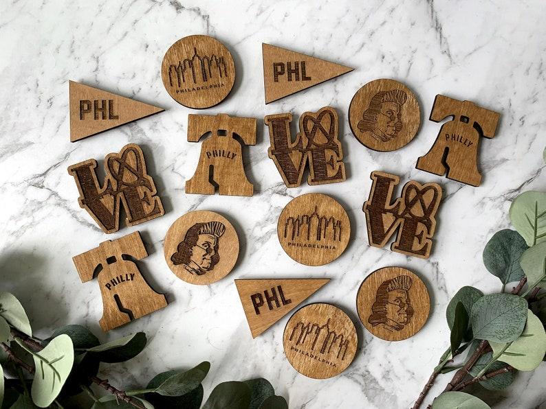 Custom Philadelphia Magnets / Philly / Wedding Favor / Gifts / image 0