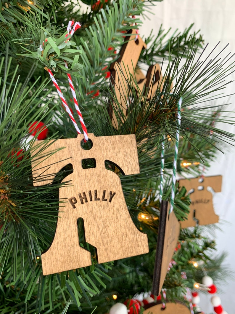 Liberty Bell Philly Ornament  / Philadelphia / Wood / Laser image 0