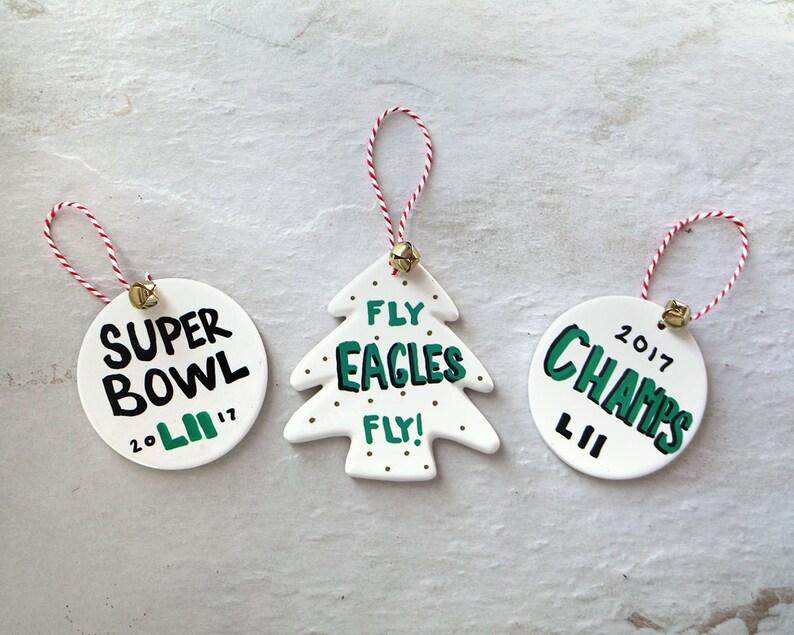 ee46a1cdb7a Eagles Superbowl LII Christmas Ornament Philadelphia