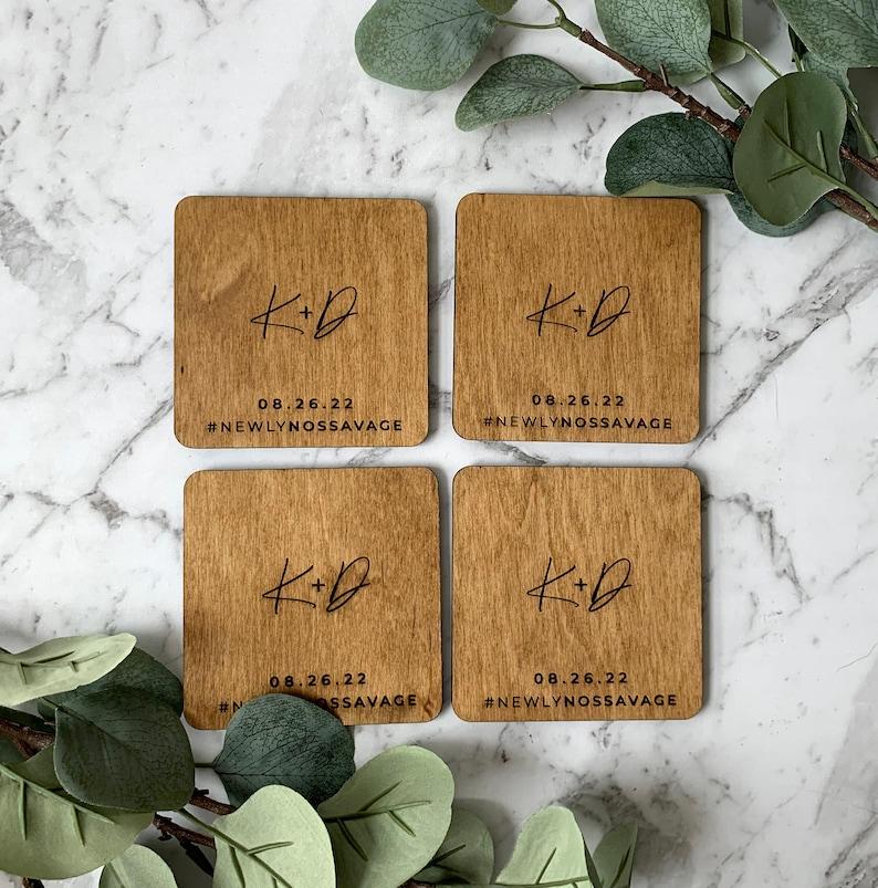 Philly Wooden Coasters  Customizable  Philadelphia Wedding Favor  Housewarming