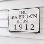 Custom Historic House Plaque - circa plaque, wooden sign