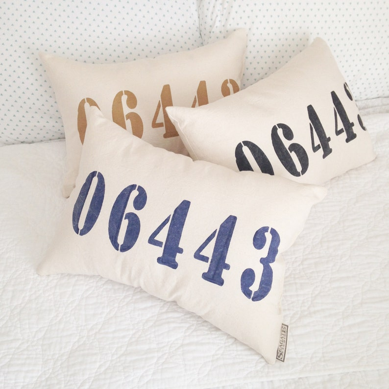 Personalized Zip Code Pillow Farmhouse Pillows Area Code Pillow Throw Cushion Custom Home Pillow Covers Zip Code Gifts New Home Gifts
