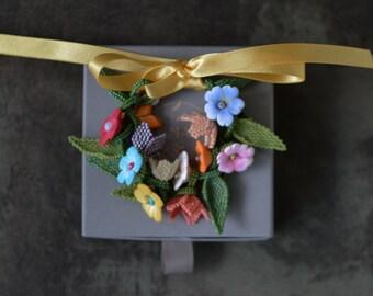 Colorful Flower Beaded Bracelet, Summer Floral Bracelet, Cottagecore  Floral Jewelry Gift, Flower Girl Bracelet