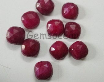 Lot of Stunning 10 Pieces AAA Quality Pink Chalcedony 16x16 mm Cushion Rose Cut Loose Gemstone Calibrated