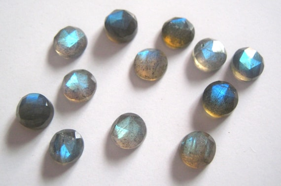 Lot of Stunning 10 Pieces AAA Quality Blue Chalcedony Cabochon 10X10 mm round Loose Gemstone Calibrated