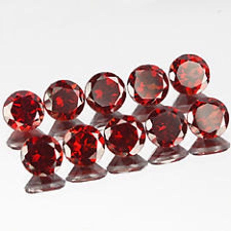 Lot of Stunning 15 Pieces AAA Quality Red Garnet Square 6x6 MM Faceted cut Loose Gemstone Calibrated