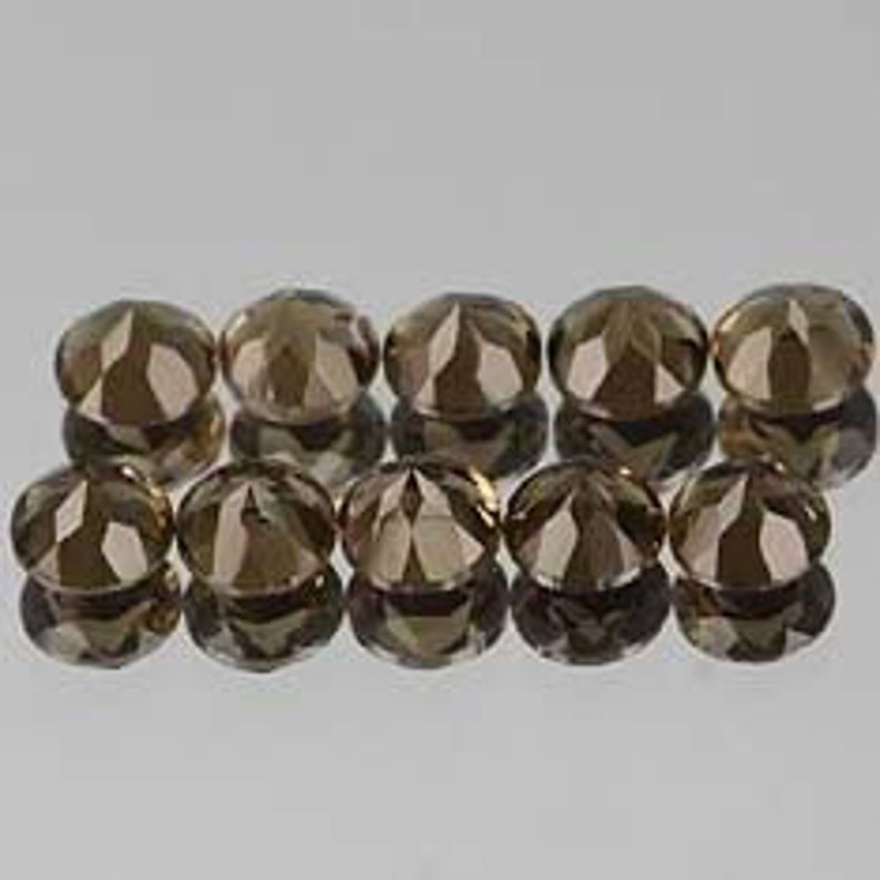 Lot of Stunning 10 Pieces AAA Natural Smoky Quartz 13x13 MM Round Faceted cut Loose Gemstone Calibrated