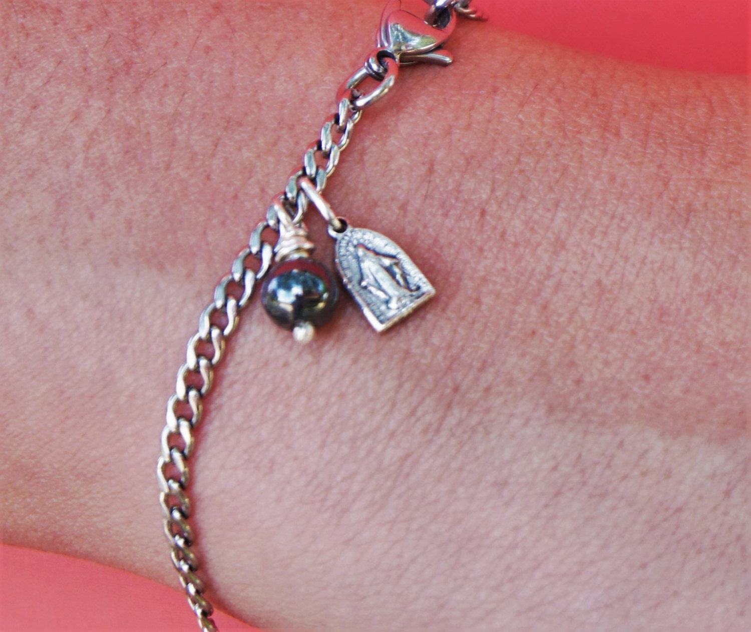 Total Consecration Bracelet Delicate Stainless Steel Chain   Etsy
