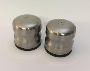 Danish Oversized Stainless Steel Salt and Pepper Shakers
