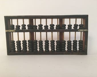 Old Asian Abacus Counting Frame
