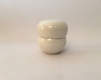 Russel Wright Iroquois Casual China Sugar White Stacking Salt and Pepper Shakers