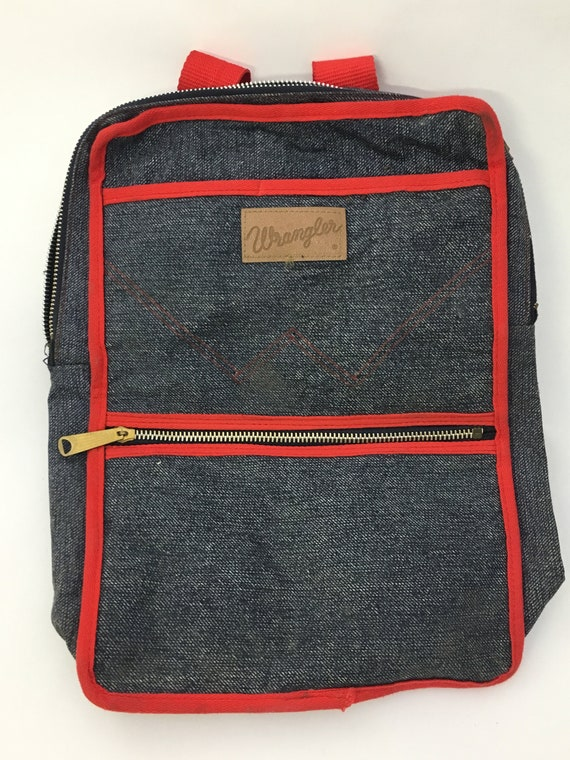 Vintage 1970s Wrangler Denim Backpack