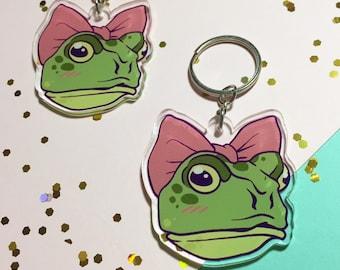 AR-A5K Pond Frogs Photo Keyring Animal Gift