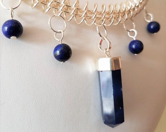 Lapis Lazuli and Blue Quartz Necklace