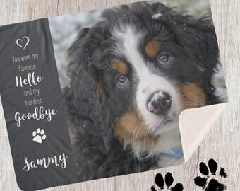Pet Photo Blanket 3CFM- Pet Memorial - Dog Photo Blanket - Pet Memorial Blanket -Cat Memorial - Custom Dog Blanket - Dog Memorial - Pet Loss