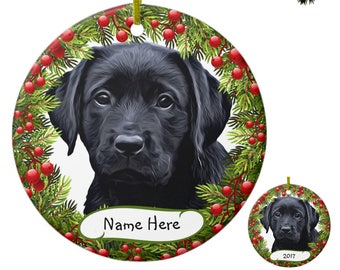 black lab ornament black lab art 04pgw labrador ornament personalized dog christmas ornament black dog unique christmas ornaments - Black Lab Christmas Ornament
