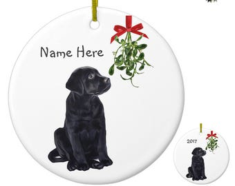 Black Lab Ornament Black Lab Art 01mst Labrador Ornament Personalized Dog Christmas Ornament Black Dog Unique Christmas Ornaments