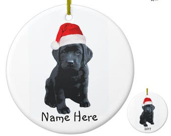 black lab ornament black lab art 09snt labrador ornament personalized dog christmas ornament black dog unique christmas ornaments - Black Lab Christmas Ornament