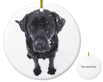 black lab ornament black lab art 19snd labrador ornament personalized dog christmas ornament black dog unique christmas ornaments - Black Lab Christmas Ornament