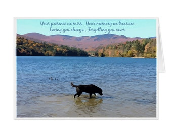 Black Lab Dog Sympathy Card 08ylbtm Pet Loss Dog Etsy