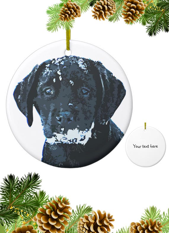 image 0 - Black Lab Christmas Ornament
