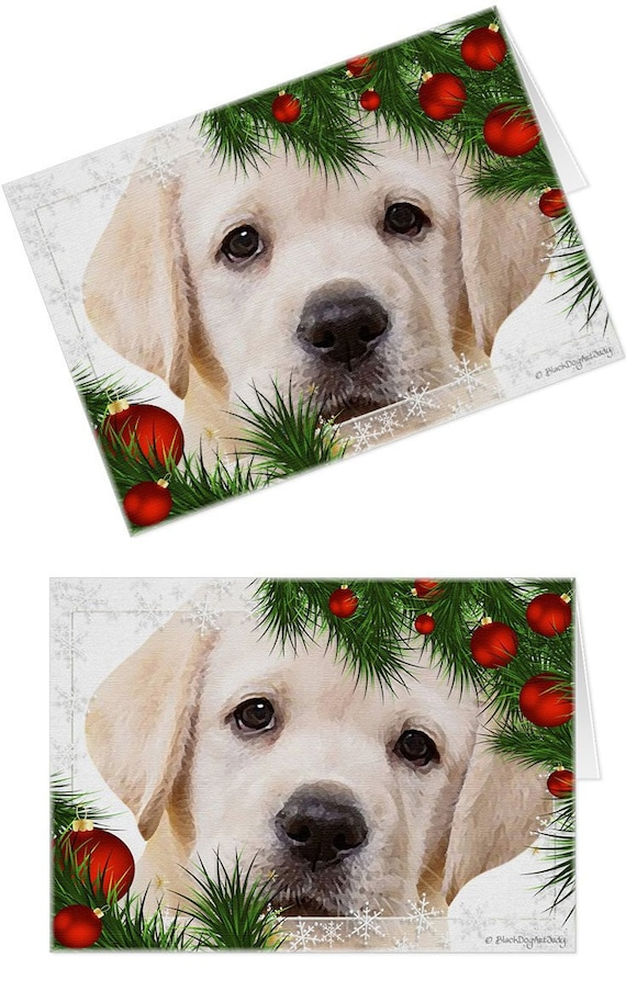 Yellow Lab Cards 01MCHHY Holiday Cards Labrador Christmas | Etsy