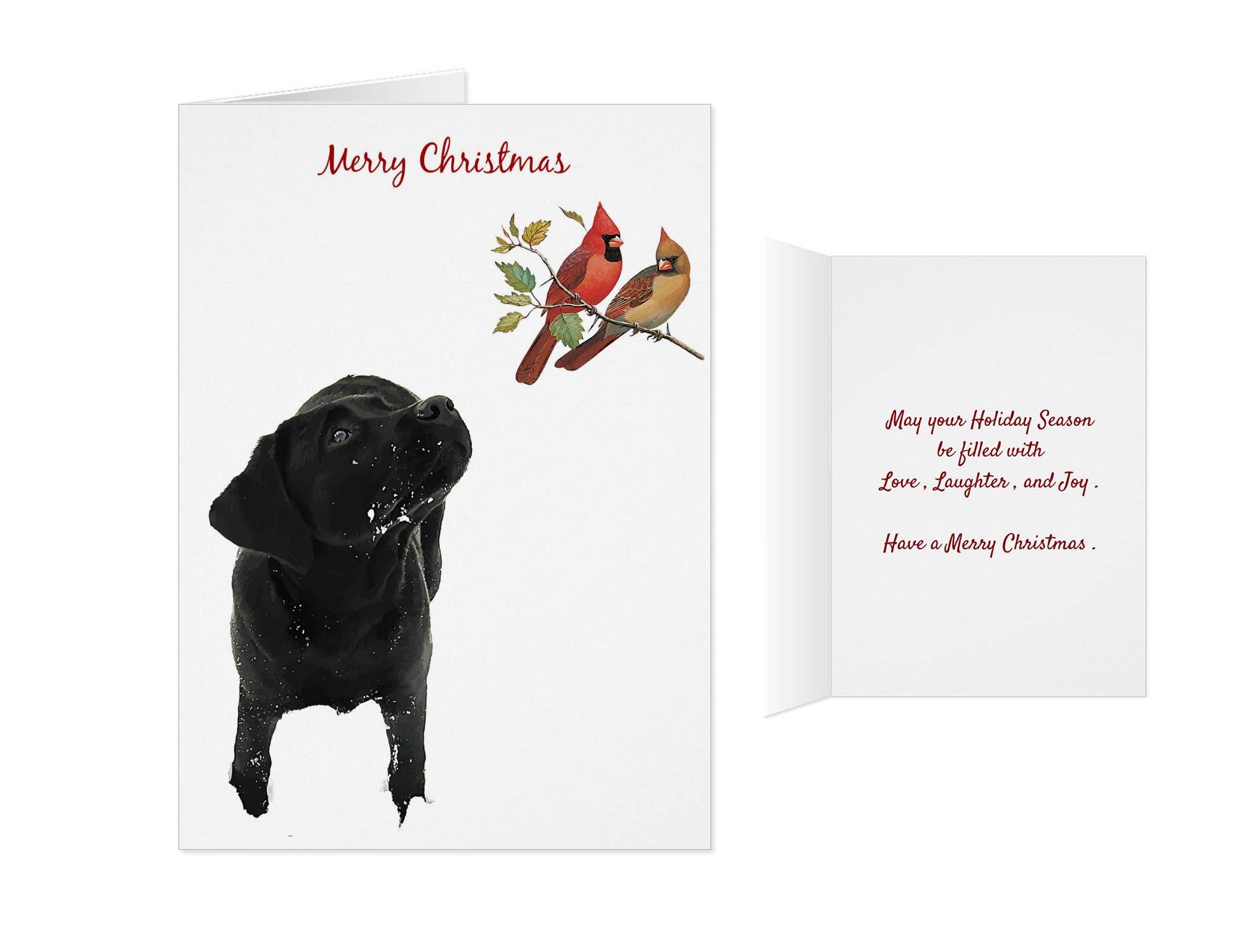 Black Lab Christmas Card JY10CAR Labrador Christmas Black   Etsy