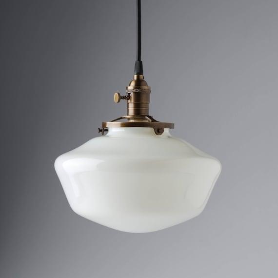 Superieur 10 White Milk Glass Globe Schoolhouse Pendant Light | Etsy