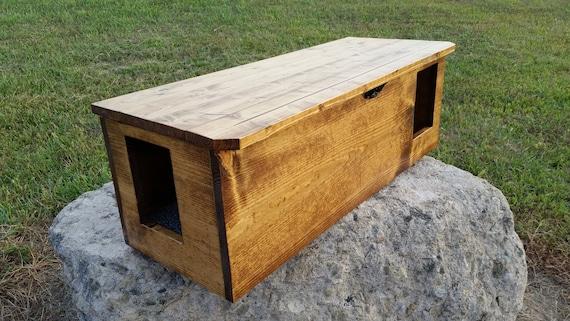 2 Door Outdoor Indoor Cat Shelter Cabin Safe House W Etsy
