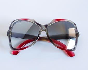 fca5c98a601a1 Vintage Oversized Japanese Sunglasses - Retro 70s Frames