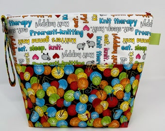 Knit Happy Balls of Yarn and Sayings