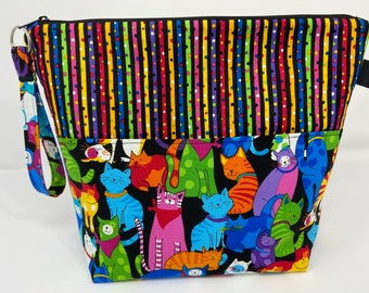 Colorful Cats Project Bag