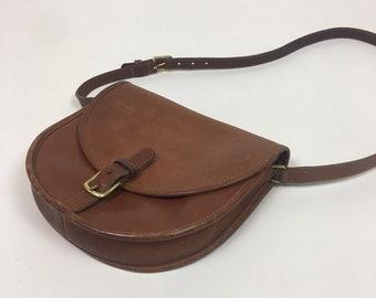 a36949fbd8 vintage Coach Crossbody Purse / vintage 70s Coach Brown Saddle Bag Prairie  Purse
